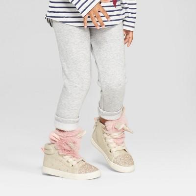 Toddler Girls' Cozy Leggings - Cat & Jack™ Heather Gray