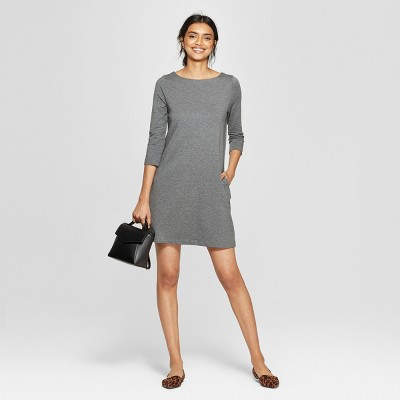 Women's 3/4 Sleeve Knit Dress - A New Day™