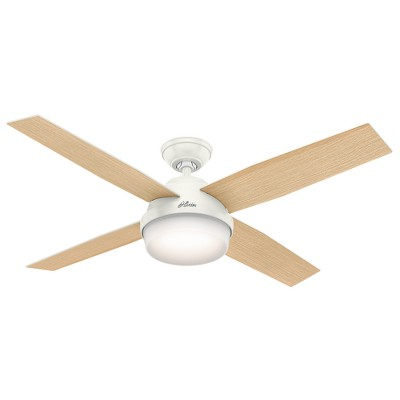 """52"""" Dempsey with Light Fresh White Ceiling Fan with Light with Handheld Remote - Hunter Fan"""