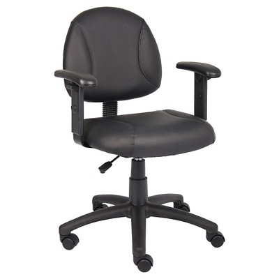 office chair with adjustable arms wheelchair nhs posture black boss products target