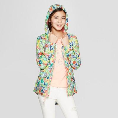 Girls' Floral Print Windbreaker Jacket - Cat & Jack™