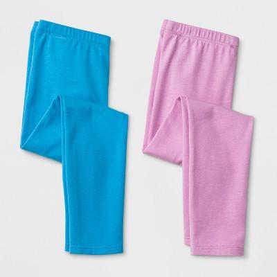 Toddler Girls' 2pk Leggings - Cat & Jack™ Violet & Bright Blue