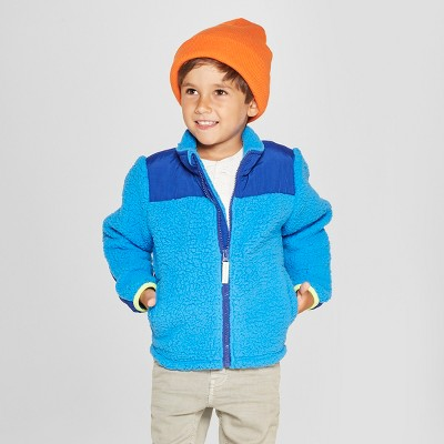 Toddler Boys' Zip-Up Fleece Jacket - Cat & Jack™ Blue