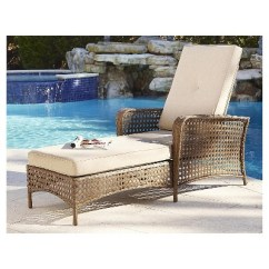 Steel Lounge Chair Stool Sofa Lakewood Ranch Woven Wicker Outdoor Adjustable Chaise With Cushions Brown Cosco Target