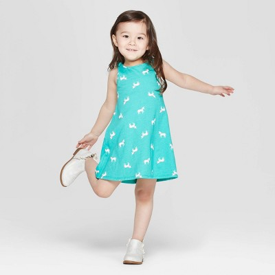 Toddler Girls' 'Unicorn' A Line Dress - Cat & Jack™ Aqua