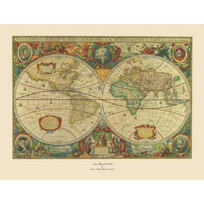 'Old World Map Painting' Ready to Hang Canvas Wall Art