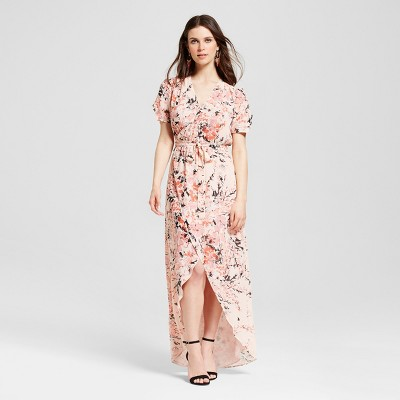 Women's Floral Wrap Maxi Dress - S&P by Standards and Practices