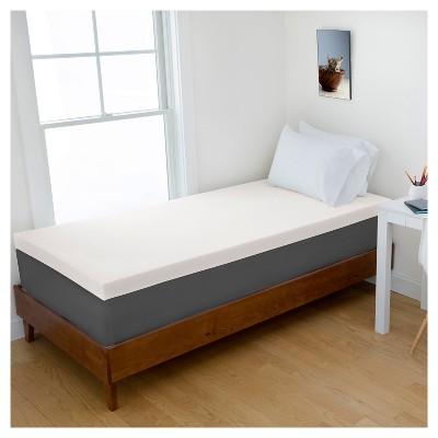 "3"" Memory Foam College Mattress Topper - Authentic Comfort®"