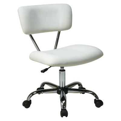 white desk chairs target swing chair for rent vista chrome and vinyl office star