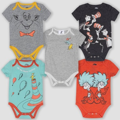 Baby Dr. Seuss 5pk Short Sleeve Bodysuits