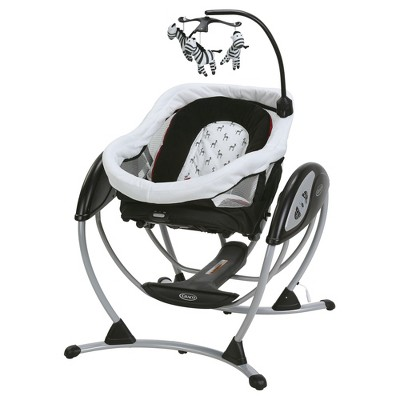 graco swing chair zebra covers rental calgary dreamglider gliding sleeper baby target