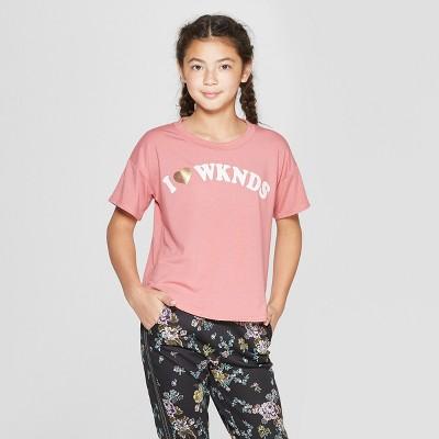 Girls' Short Sleeve Graphic T-Shirt - art class™ Pink