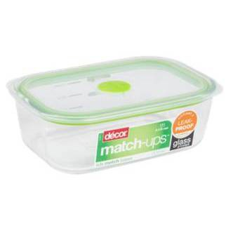 Decor Match-Ups Green Oblong Glass Realseal Food Storage Containers