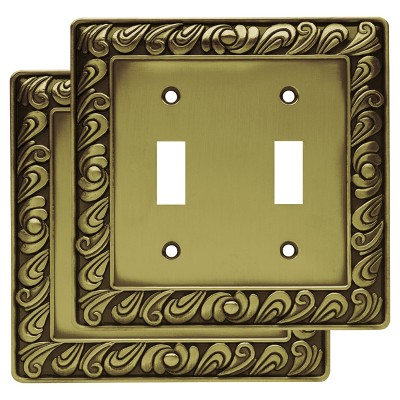 Paisley Double Switch Wall Plate- Set of 2