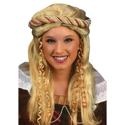 Costume Wig Renaissance Blonde Golden