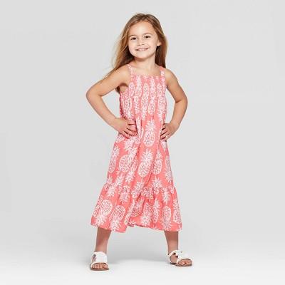 Toddler Girls' Pineapple Printed Maxi Dress - Cat & Jack™ Peach