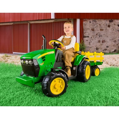 Pajamas have rib cuffs at the wrist and ankle. Peg Perego 12v John Deere Ground Force Tractor With Trailer Powered Ride On Green Target