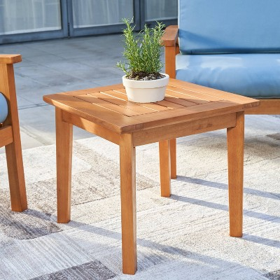 gloucester contemporary wood patio side table vifah