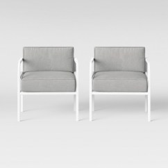 White Outside Chairs Inglesina Table Chair Beacon Hill 2pk Patio Club Gray Project 62 Target