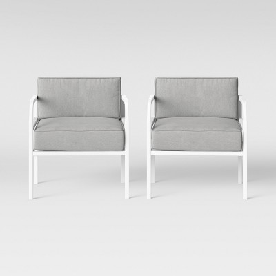 beacon hill 2pk patio club chair gray white project 62