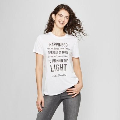 Women's Harry Potter Short Sleeve Dumbledore Quote Graphic T-Shirt (Juniors') White