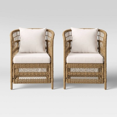 mulberry 2pk patio chair natural threshold