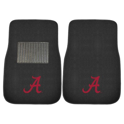 NCAA 2-pc Embroidered Car Mat Set