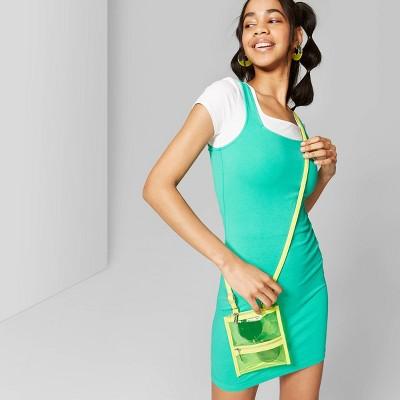 Women's Round Neck Knit Tank Dress - Wild Fable™ Tropic Green