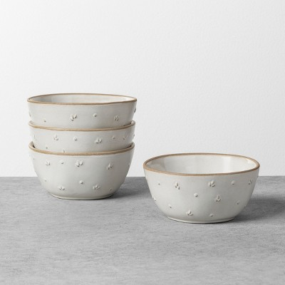 Textured Floral Mini Bowl Sour Cream - Hearth & Hand™ with Magnolia