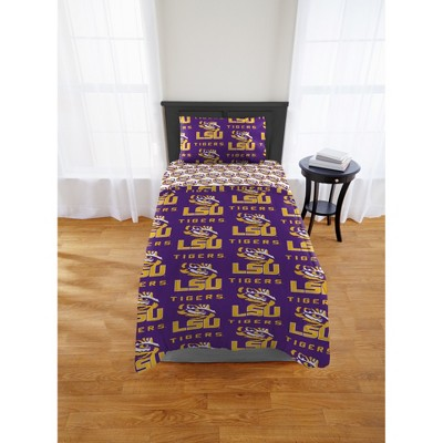 NCAA LSU Tigers The Northwest Company 4pc Bedding Set - Twin XL