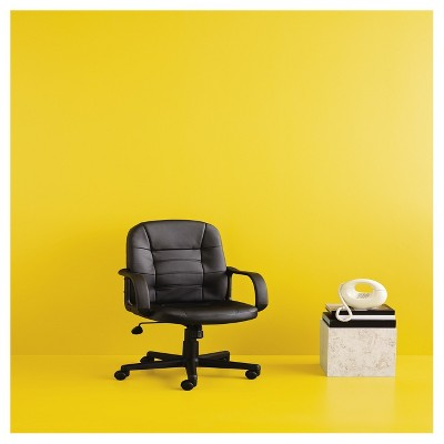 yellow office chair swingasan hanging with stand bonded leather black room essentials target