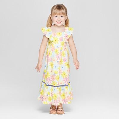 Toddler Girls' Challis Maxi Dress - Cat & Jack™ Yellow