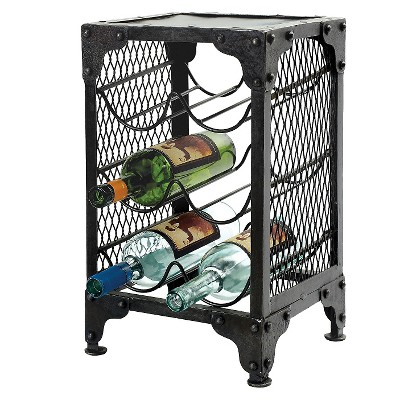 Vino Rack Natural Black Iron