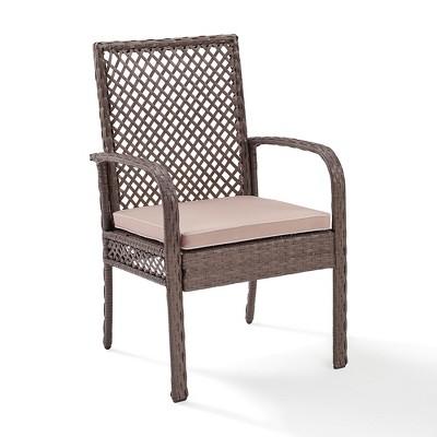 tribeca outdoor wicker dining chair crosley