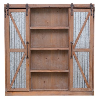 Westerly Barn Door Cabinet Brown - Firstime