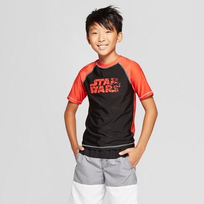 Boys' Star Wars Rash Guard - Black/Orange