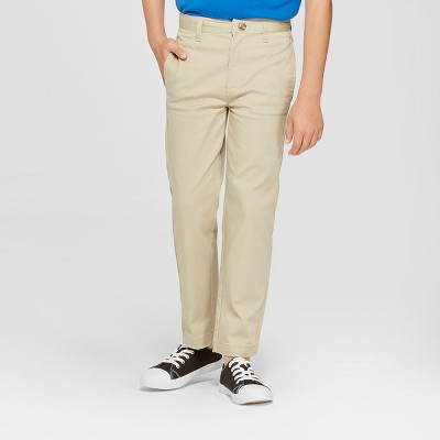 Boys' Flat Front Uniform Chino Pants - Cat & Jack™