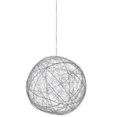 """Ganz 10"""" Tell A Story Contemporary Woven Metal Wire Ball Christmas Ornament - Silver"""
