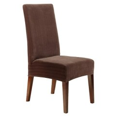 Target Stretch Chair Covers Dining Room With Arms Pinstripe Short Cover Chocolate Sure Fit About This Item
