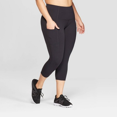 Women's Plus Size Urban Mid-Rise Capri Leggings - C9 Champion® Black