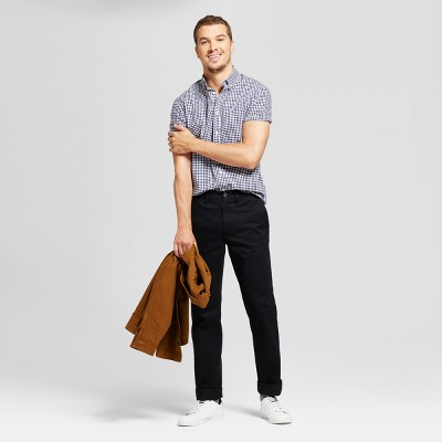 Men's Straight Fit Hennepin Chino Pants - Goodfellow & Co™ Black