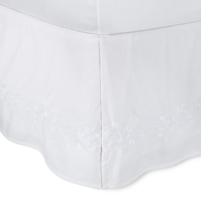 White Embroidered Bed Skirt - Simply Shabby Chic®
