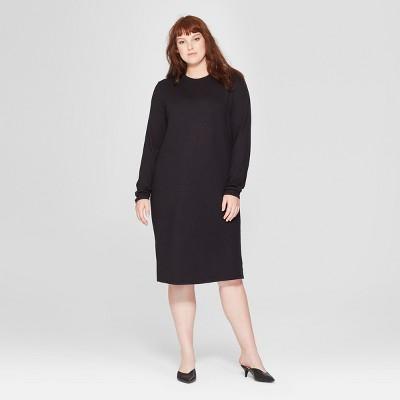 Women's Plus Size Long Sleeve Knit Midi Dress - Prologue™