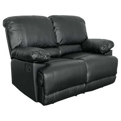 Bonded Leather Reclining Loveseat - CorLiving