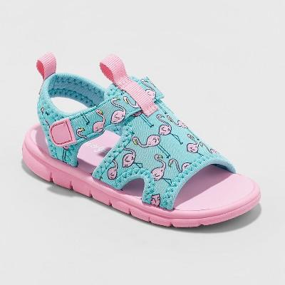 Toddler Girls' Jayca Flamingo Water Sport Slide Sandals - Cat & Jack™ Mint