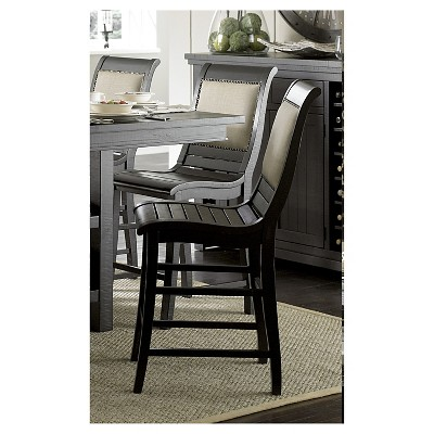 distressed black dining chairs hanging chair makro willow counter upholstered set of 2 about this item