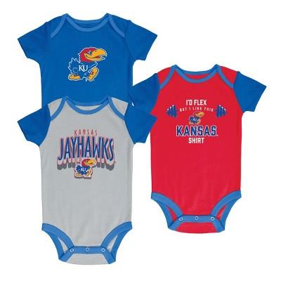 NCAA Baby Boys' 3pk Bodysuit Kansas Jayhawks