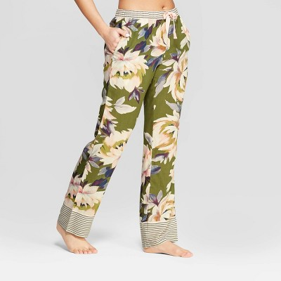 Women's Floral Print Simply Cool Pajama Pants - Stars Above™ Green
