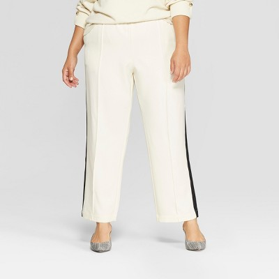 Women's Plus Size Side Striped Ankle Trouser - Who What Wear™