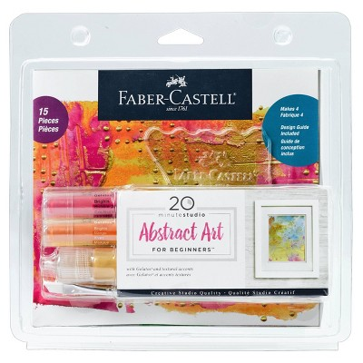 15pc 20 Minute Studio Abstract Art for Beginners - Faber-Castell
